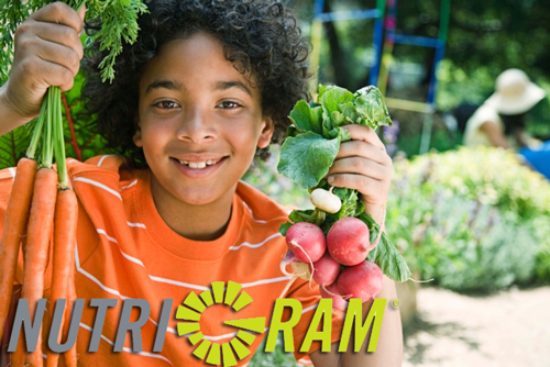 NutriGram: Boy in Garden with Carrot