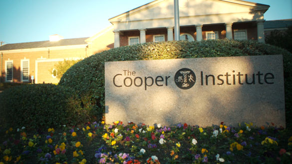 The Cooper Institute Sign and Building