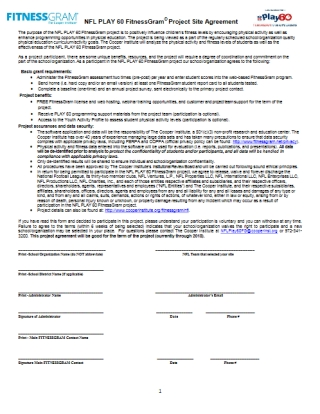 Project Site Agreement Renewal