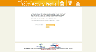 NFL Play 60 FitnessGram Youth Activity Profile