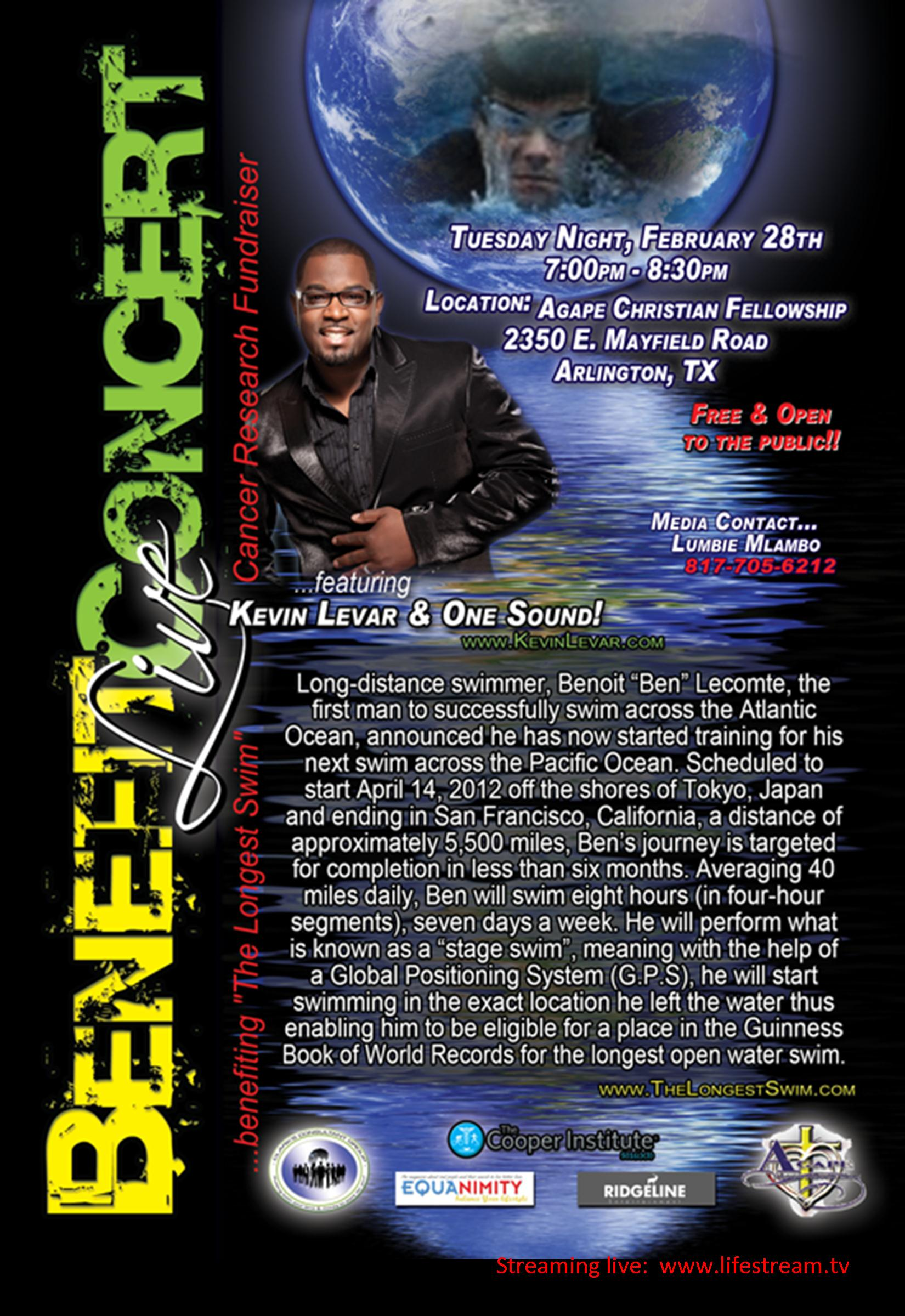 "Kevin Levar Set to Perform at Church Benefit for ""The"