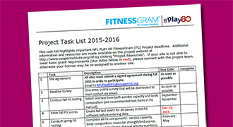 NFL Play 60 FitnessGram Project Resources